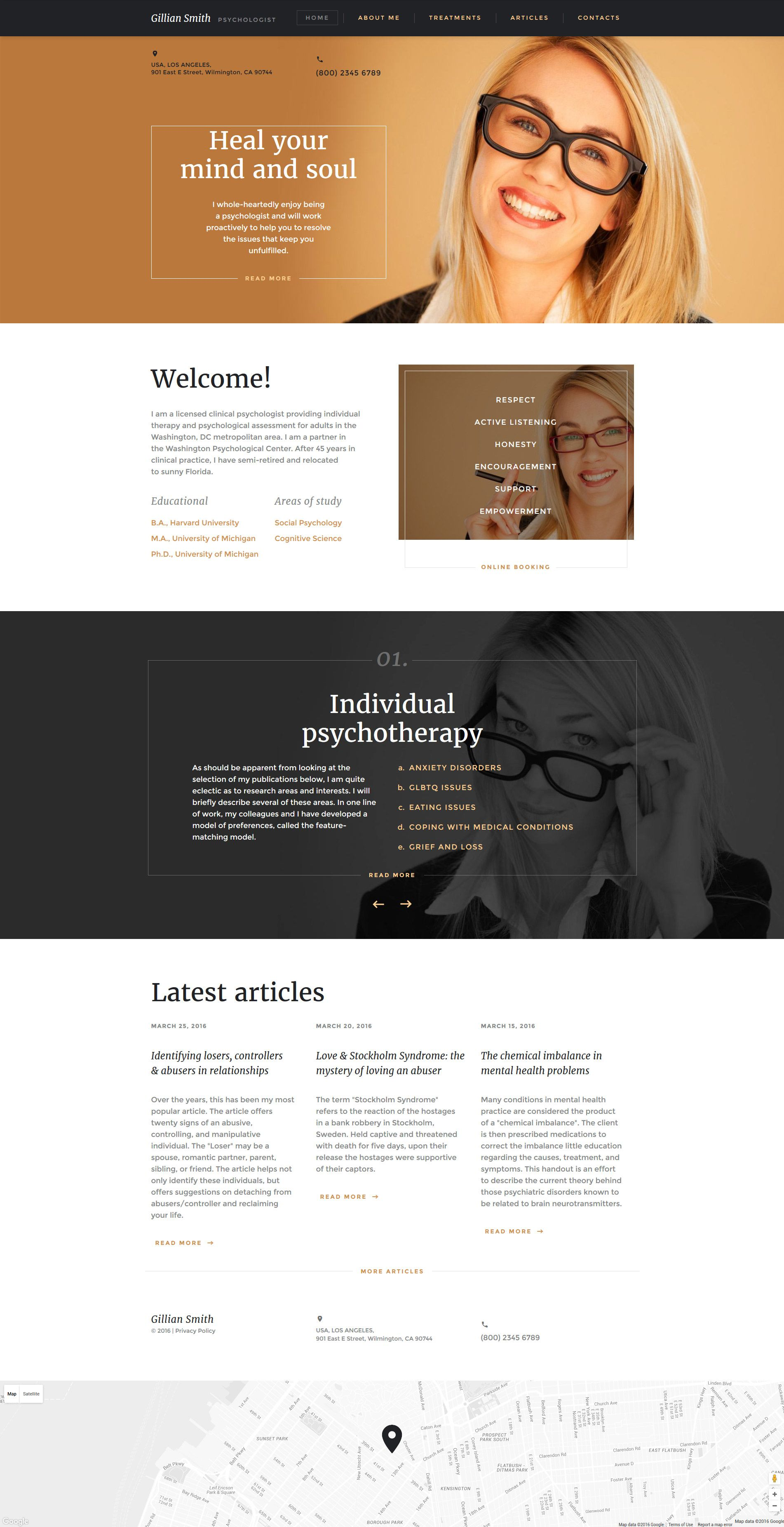 Psychologist Website Template http://www.templatemonster.com/website ...