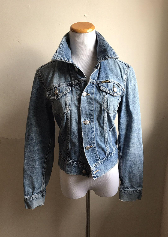 Vintage Diesel Denim Jacket Womens Cropped Jean Jacket Etsy Denim Jacket Women Diesel Denim Jacket Denim Jacket