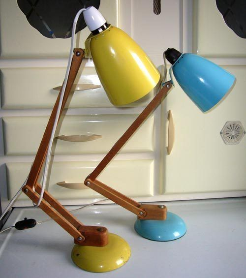 Mac Lamps In My Favourite Colours Yellow Turquoise Vintage Modern Interior