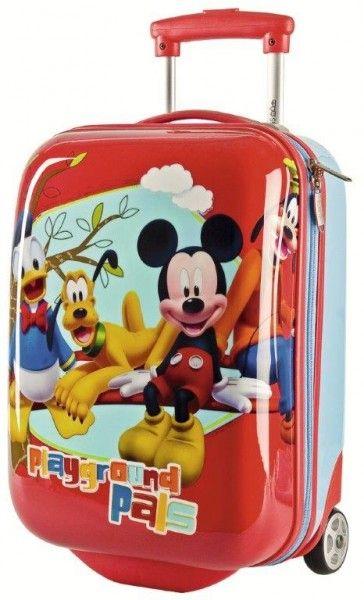 9e5a072694 Mickey Mouse Topolino Disney Trolley Valige Rigide Bagaglio a Mano, 48cm,  Viaggio Zaini e Trolley Bambino - TocTocShop.com -NEW