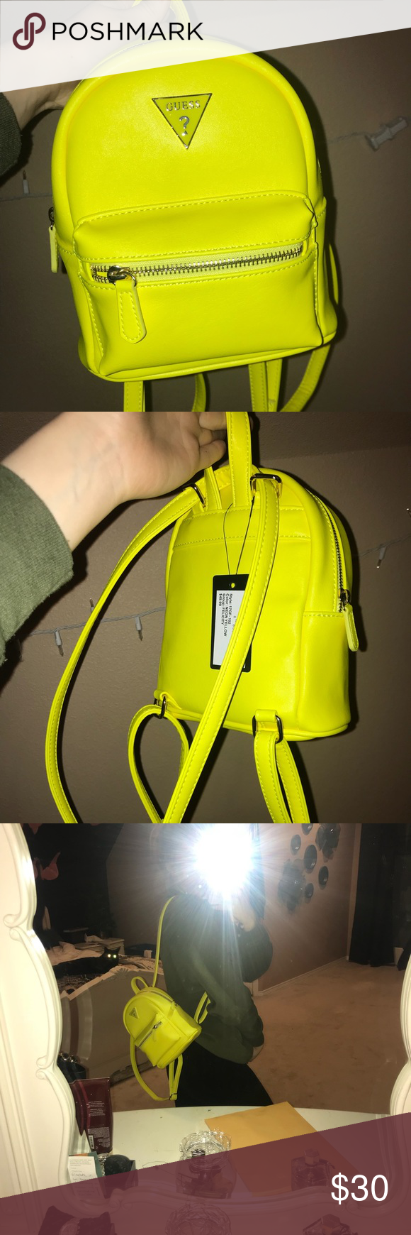 c54d0267ea0 BRAND NEW Guess vibrant yellow mini backpack! This is such a gorgeous  piece. A