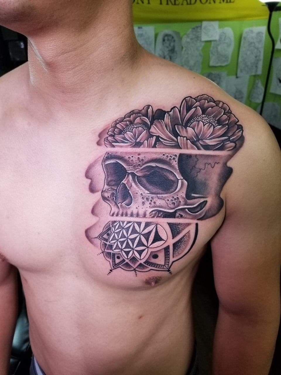 Blackandgrey Mandala Flower Skull By Mike R Tattoos Ink Inked Pensacola Bonefaceink Floridatattoo Tattoo Shop Florida Tattoos Black And Grey Tattoos