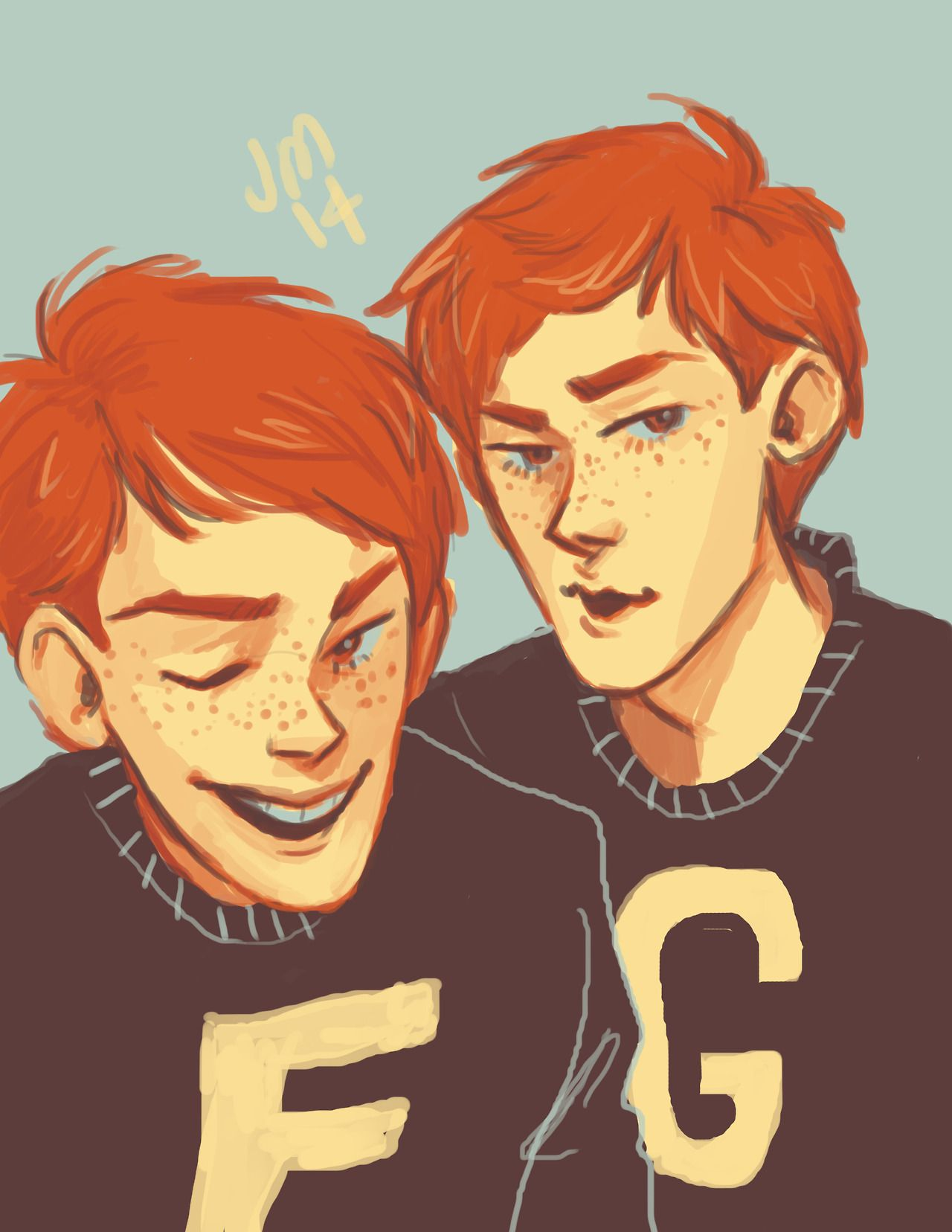 Color Palette Project Fred And George 1 Harry Potter