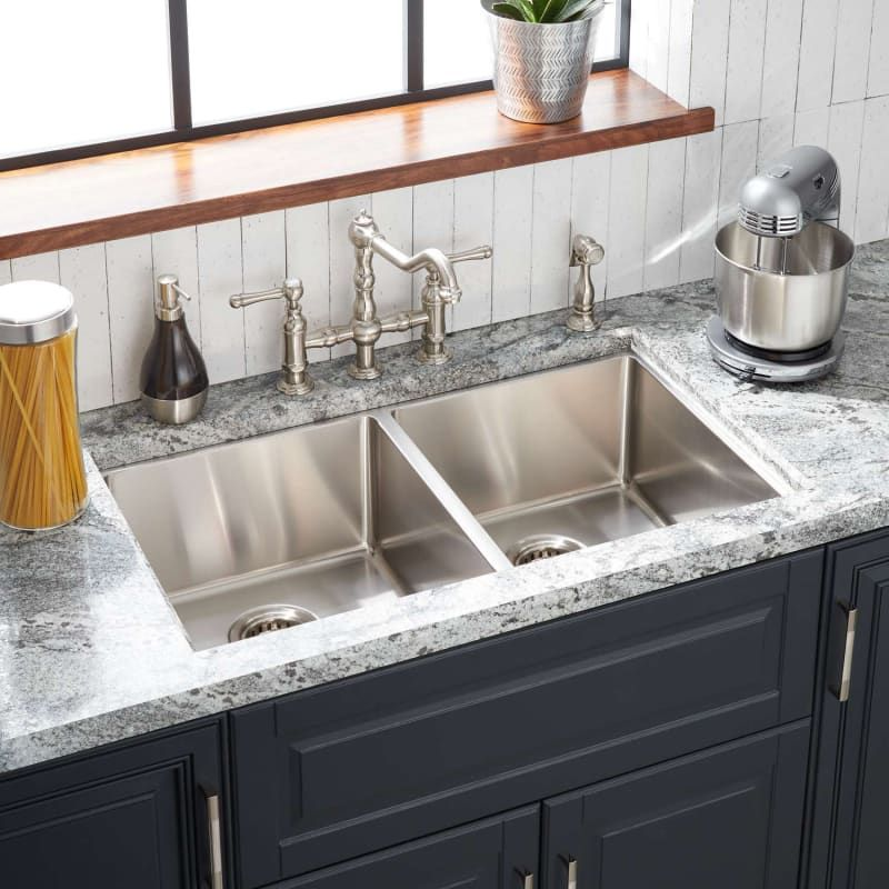 Signature Hardware 447785 Ortega 33 Drop In Or Build Com In 2021 Stainless Steel Farmhouse Sink Kitchen Sink Design Undermount Kitchen Sinks Dropin stainless steel kitchen sinks