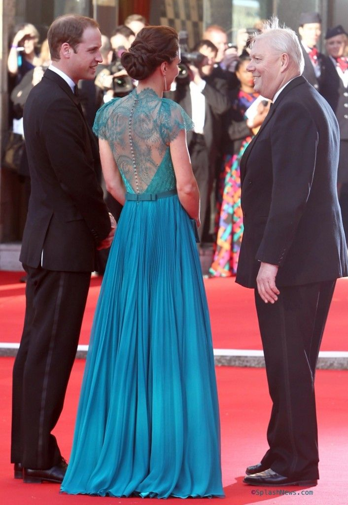 HRH the Duchess, Baroness, Countess Catherine in Jenny Packham. They ...