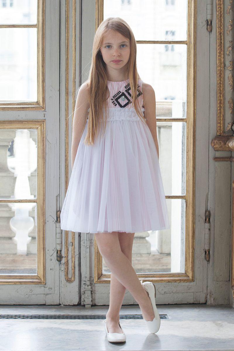 foto de Fendi kids spring summer 2017 stripes kid's Kids fashion Frocks for girls Kids outfits