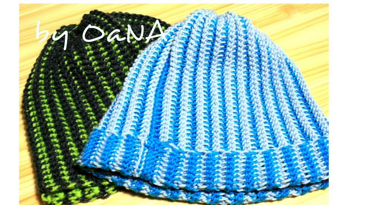 acquista per il meglio pacchetto alla moda e attraente sconto più votato tecnica tunisina cappello a coste   TUTORIALS UNCINETTO ...
