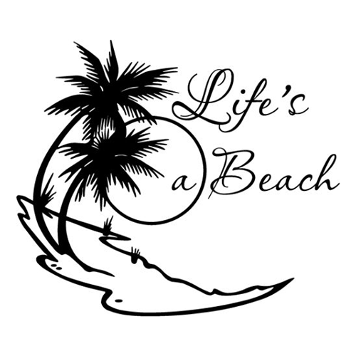 Lifes A Beach Laptop Car Truck Vinyl Decal Window Sticker PV - Beach vinyl decals