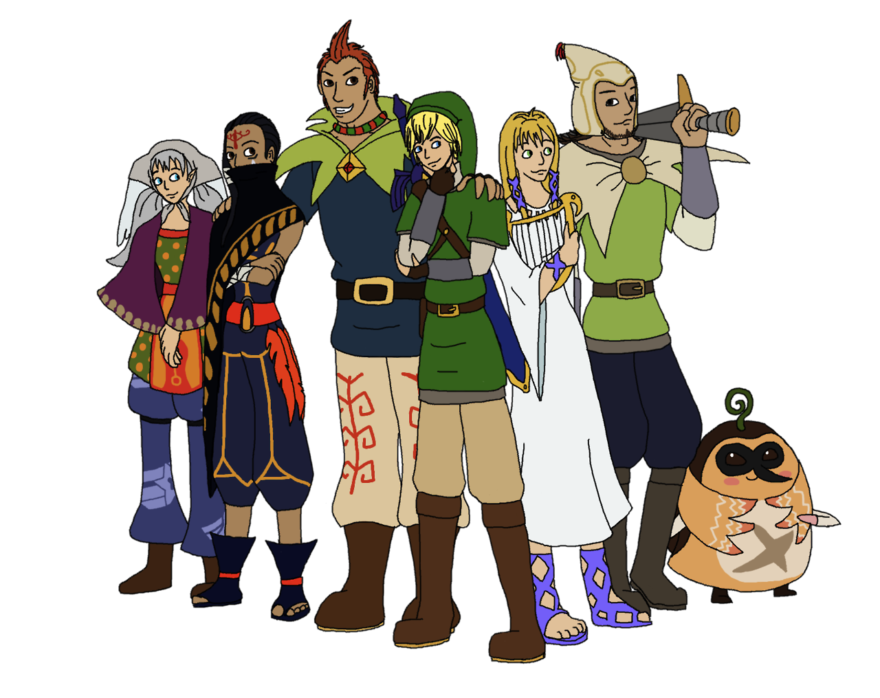 Zelda/Xenoblade Halloween crossover.. YES.