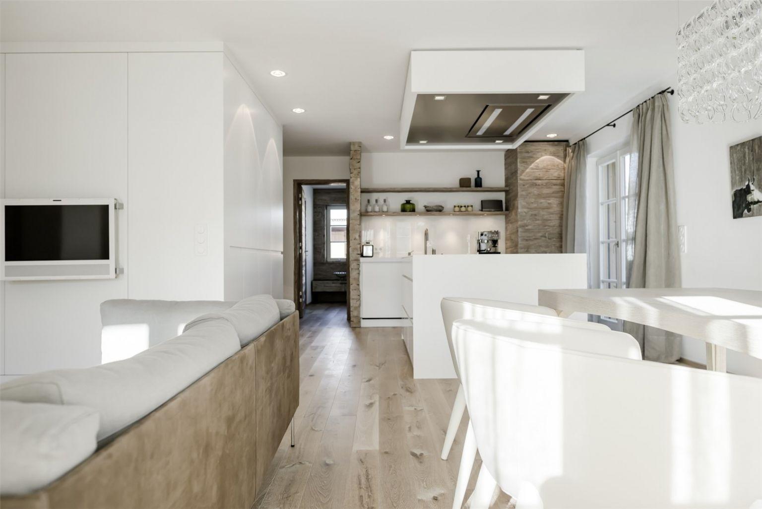 Attraktiv Wohnzimmer Mit Offener Küche