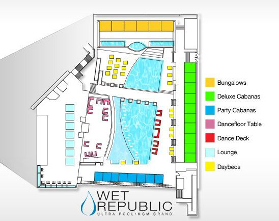 Wet republic pool floor plan map wet republic mgm grand for Floor 6 reloaded menu