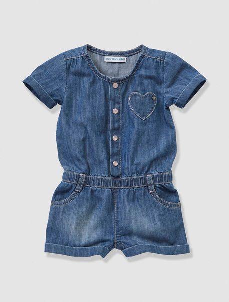 9169daa5312673 Combi-short en jean bébé fille STONE - vertbaudet enfant | Baby's ...
