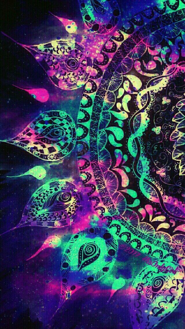 Grunge mandala galaxy iPhone/Android wallpaper I created for the app CocoPPa! | Fondos de ...