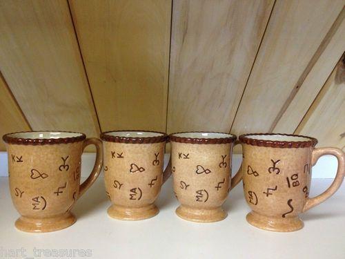 Montana Silversmiths Branded Dinnerware Mugs Only 4 Piece Mug Set ...