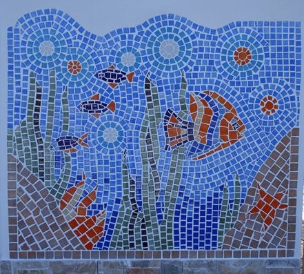 Como hacer un mosaico con azulejos de colores proyectos for Azulejo mosaico