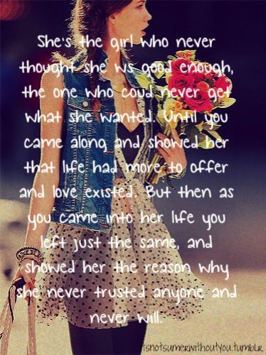 She Never Trusted Anyone And Never Will Again Cold Hard Truth Broken Heart Quotes Relationship Quotes