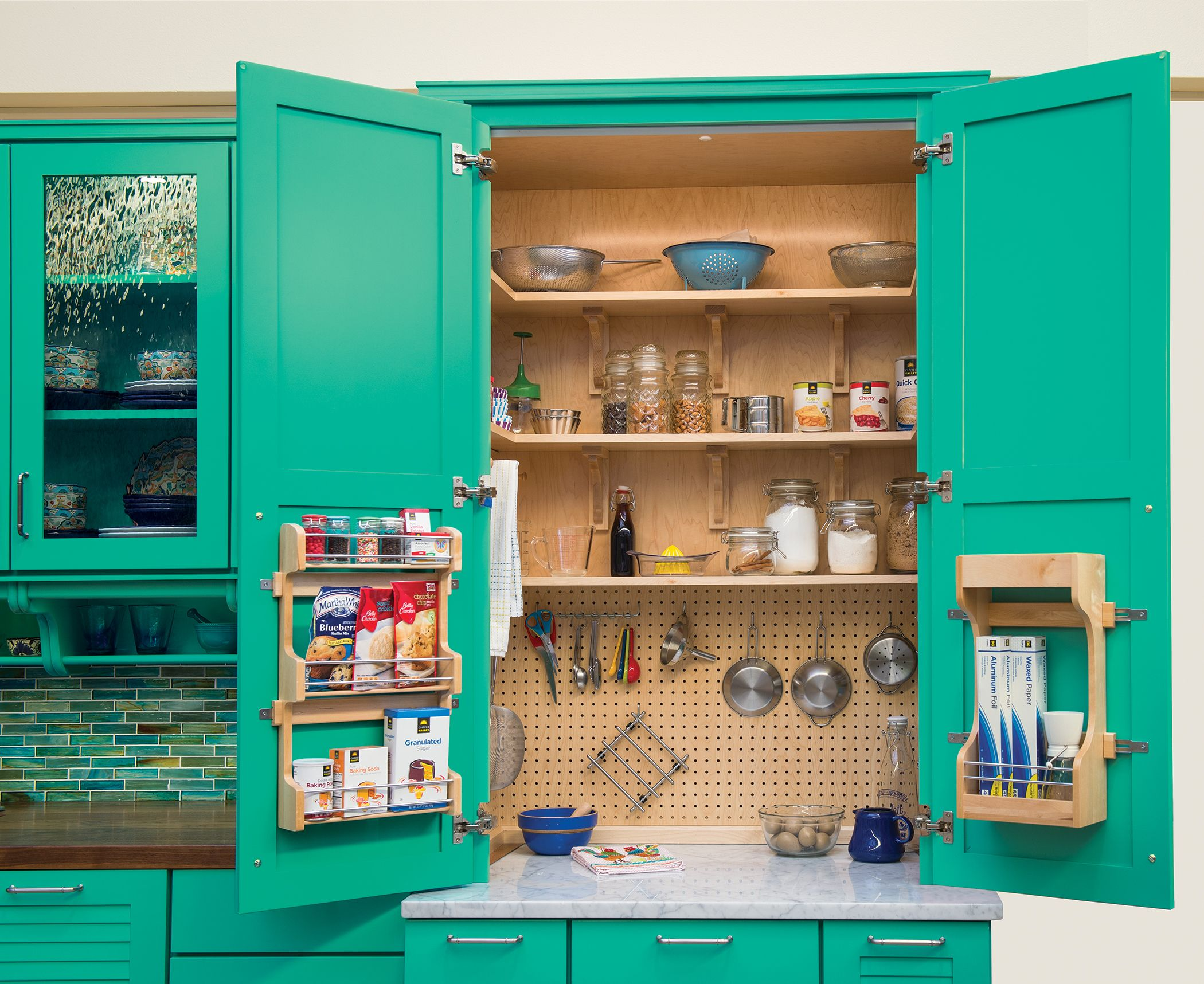 a Baker's Pantry designed to fit all your cooking needs!