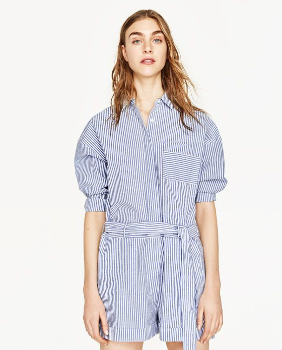 striped embroidered jumpsuit clothes 2017 pinterest. Black Bedroom Furniture Sets. Home Design Ideas