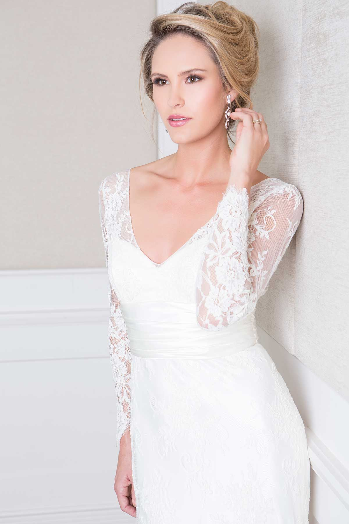 Nicola (close up) Australian wedding dress designers