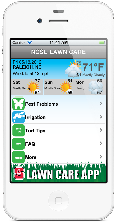 NCSU Lawn Care Appfor iPhone and Android Lawn care
