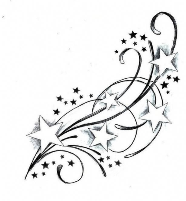 behind the ear star tattoo designs - Google Search