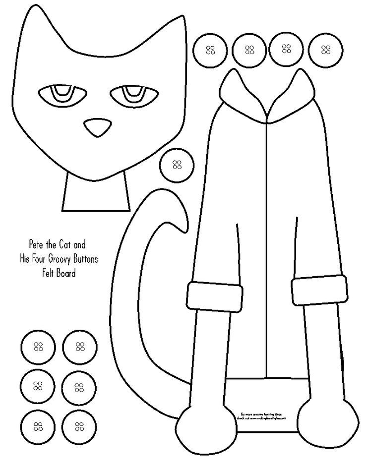 Image result for felt board story templates Pete the cat