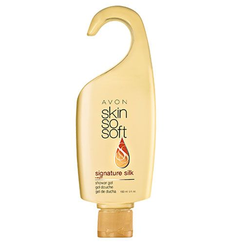 SKIN SO SOFT Signature Silk Shower Gel- boosts radiance and instantly illuminates skin. Now with Argan Oil. Experience soft gardenia and exotic woods. Provides gentle cleansing and all-over moisturization for every skin type.  Shop online at tashina.avonrepresentation.com