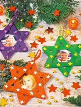 Nice xmas stars for a xmas tree and easy to make with children ...