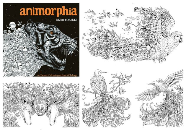 Lots Of Intricate Images To Colour In This Fascinating Animorphia Adult Colouring Book