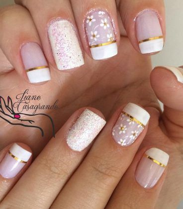 modelos de unas decoradas uas Pinterest Nude nails and Manicure