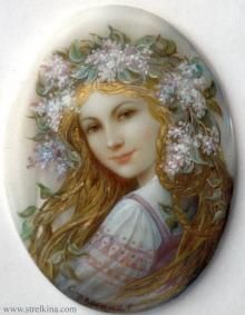 Lila ofrenda floral