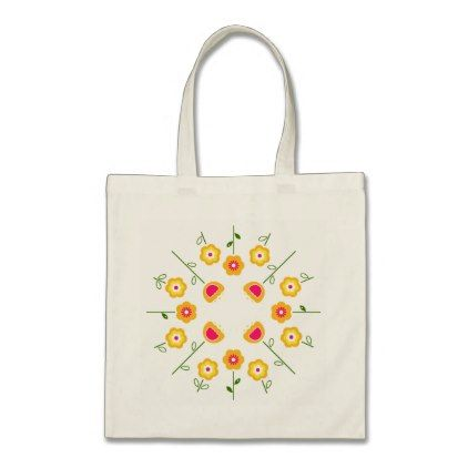 #flower - #Tote bag with yellow flowers