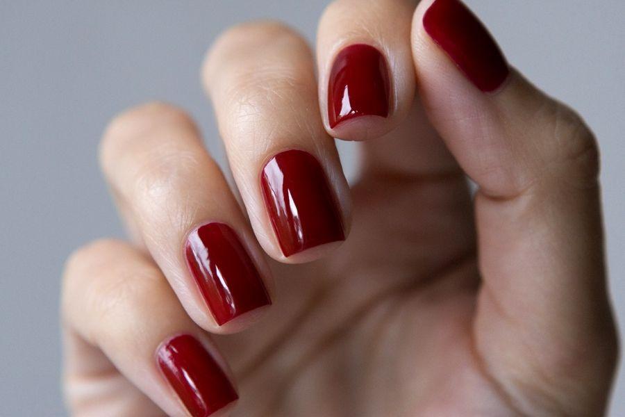красные гель ногти фото