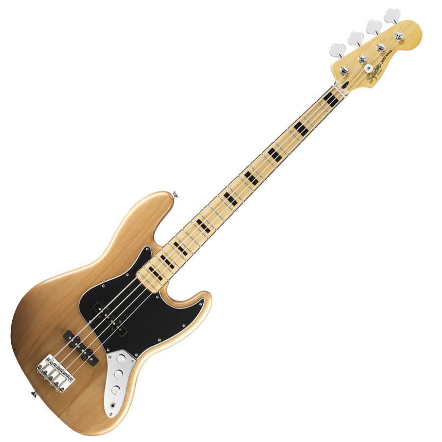 Squier Vintage Modified Jazz Bass 70s Maple Fingerboard Natural Squier Bass Guitar Guitar
