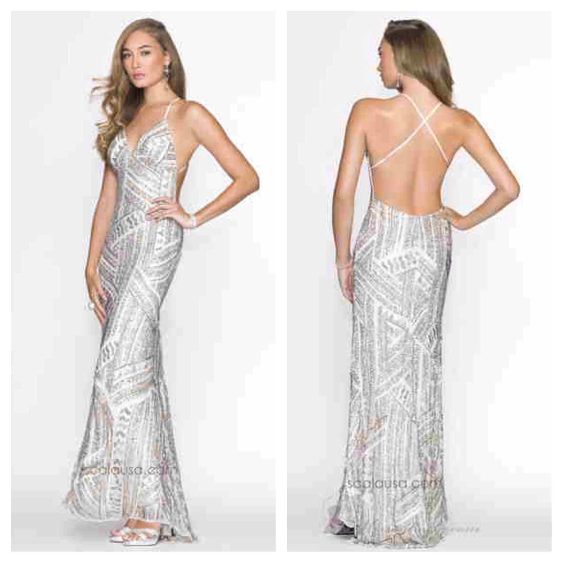 Never too early to start shopping for your prom dress. Check out Scala 47698 for $398. Available in Ivory/Silver. mia bella couture. scala usa. scala. prom dress. prom 2015. long dress. evening gown. beautiful. stunning. breathtaking. wanelo.