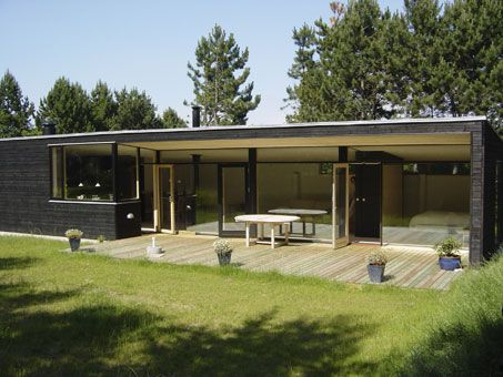 Træhuse, huse opført i træ, Arkitekttegnet Hus, Sommerhuse, Artkitekttegnet, Projektering