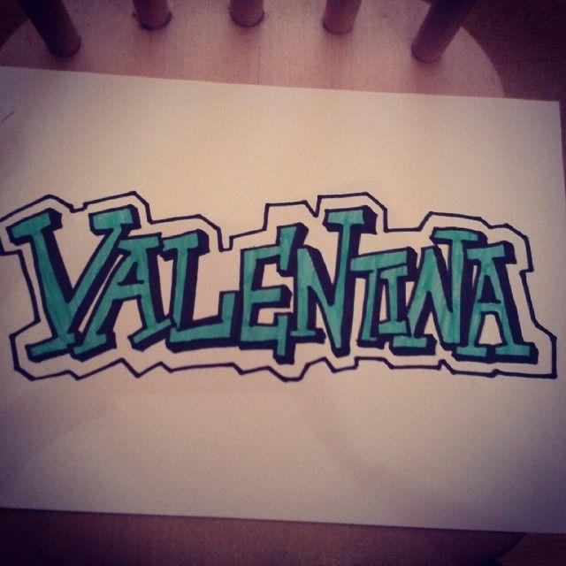 Graffitis Con El Nombre Valentina Buscar Con Google Graffiti
