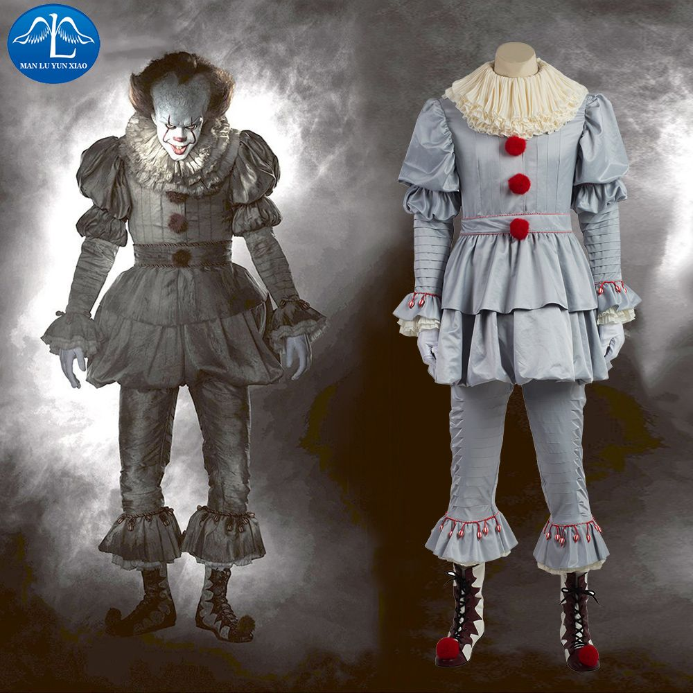 manluyunxiao new it cosplay costume pennywise costume clown costume