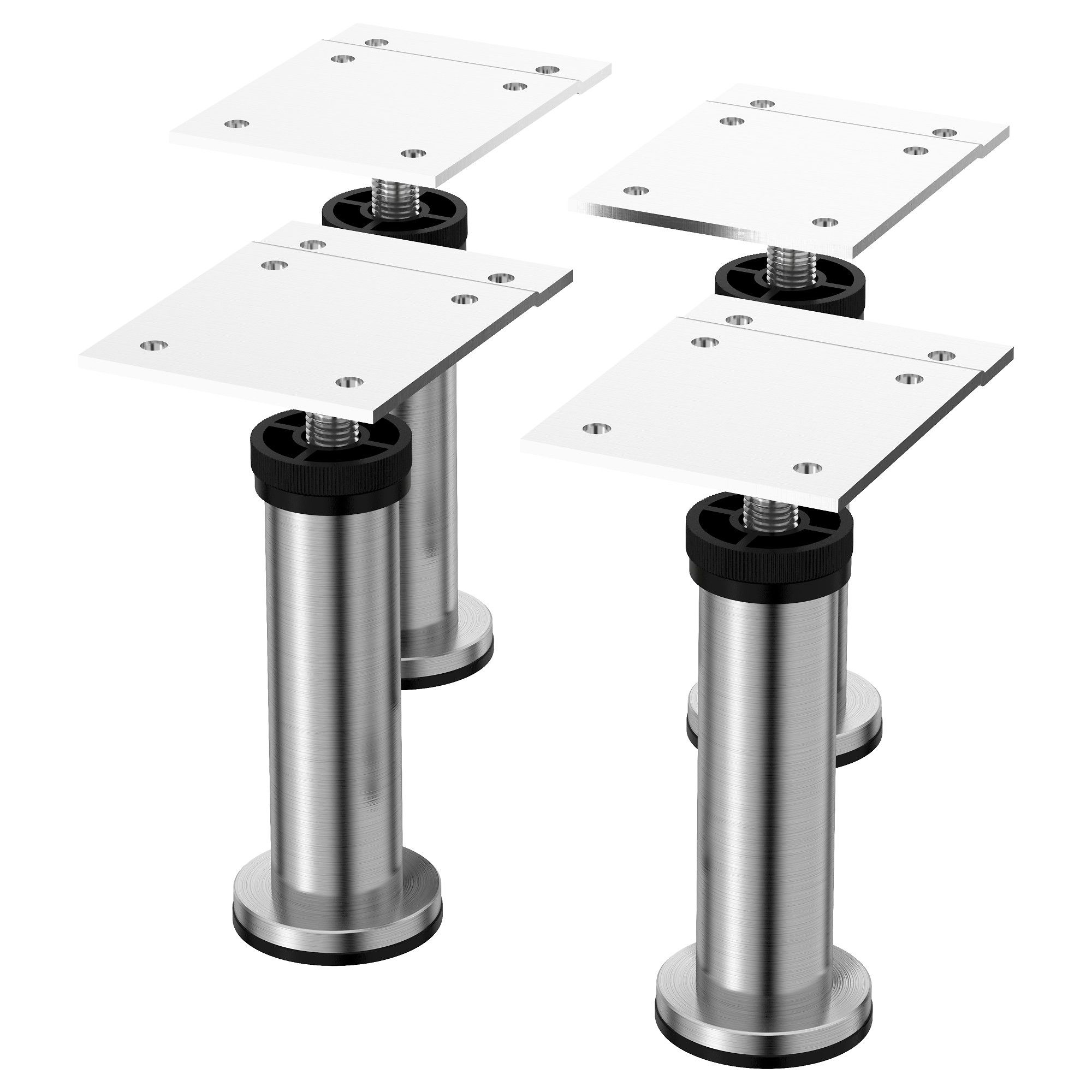 Capita Leg Stainless Steel 4 1 2 Ikea Adjustable Furniture Legs Ikea Furniture Legs