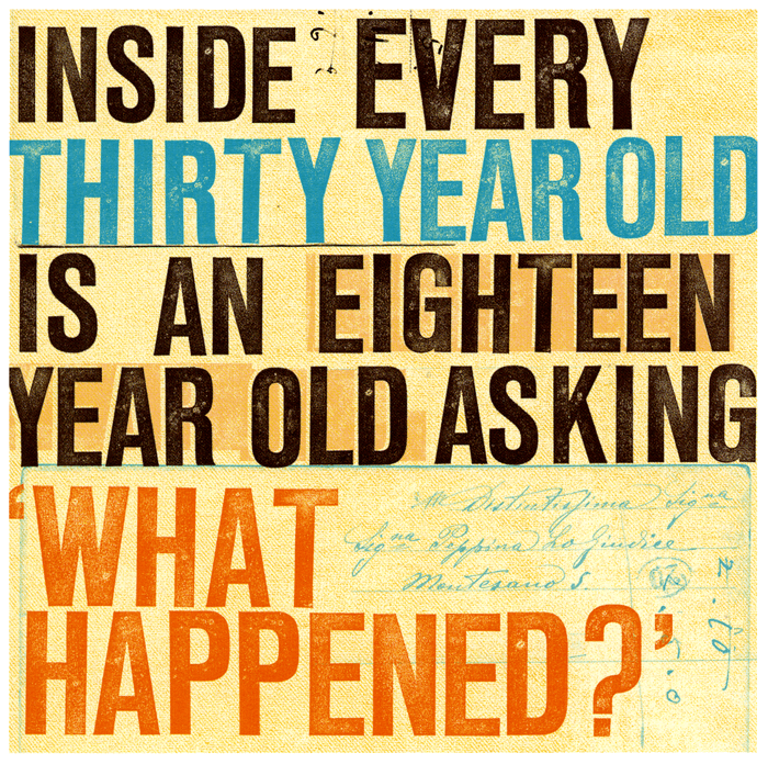 Inside every thirty year old 30th birthday quotes, 30th