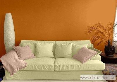 Wohnzimmer farbgestaltung ~ Farbgestaltung für ein wohnzimmer in den wandfarben sahara my