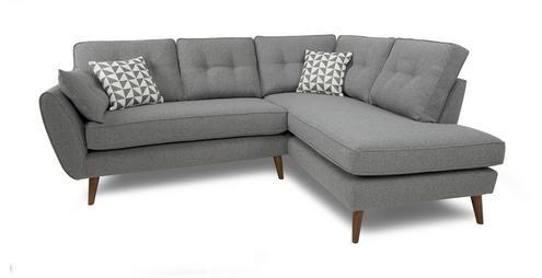 We Want This But In Turquoise Zinc Left Arm Facing Corner Group Zinc Dfs Corner Sofa Living Room Grey Corner Sofa Retro Sofa