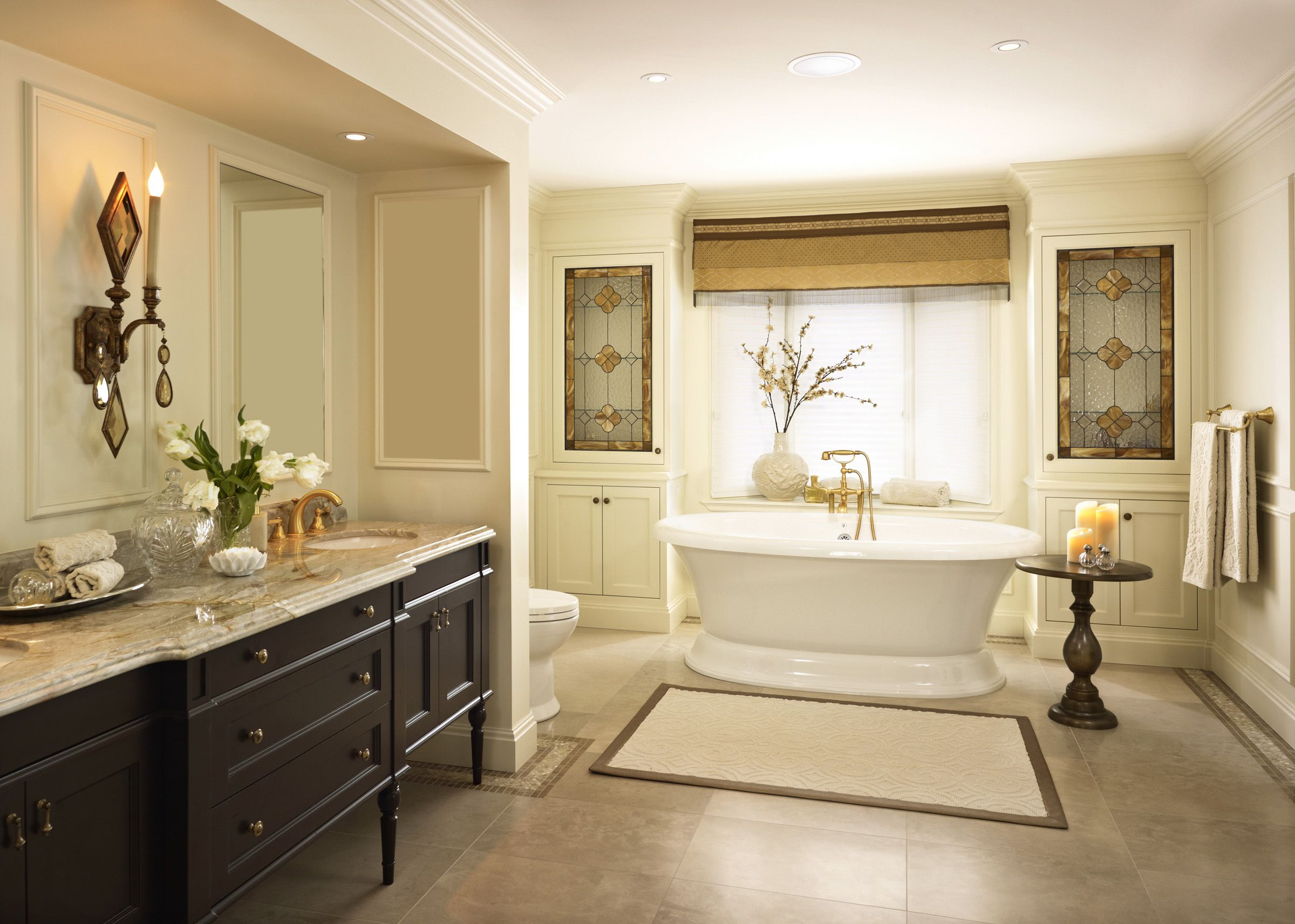 This master bathroom is the ultimate retreat with all the amenities ...