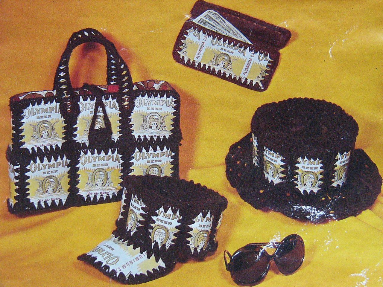 Crochet pattern Beer Can Hat Billfold Purse PDF by ChangingTide ...