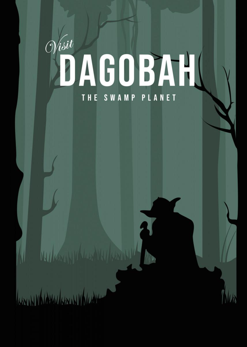 Dagobah the swamp planet Minimalistic Poster Print | metal posters - Displate star wars… | Displate thumbnail