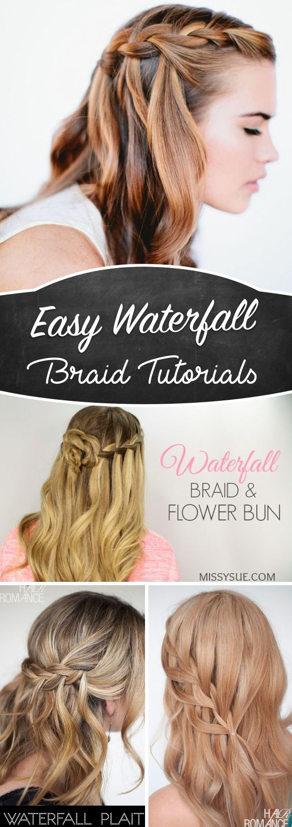 Waterfall Braid Tutorials Adding Beautiful Twists and Turns to