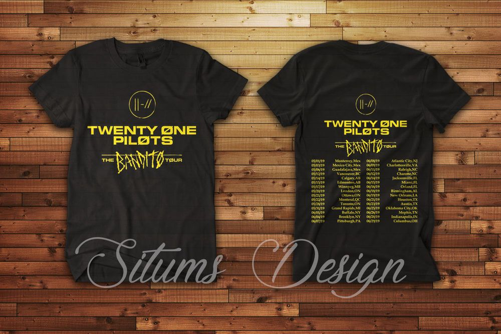 70c7bfd90aa Twenty One Pilots The Bandito Tour 2019 Gildan Music Rap TShirt  fashion   clothing