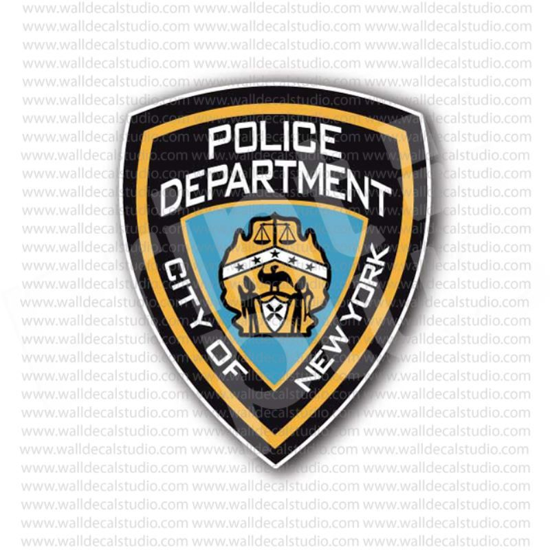 From 4 50 Buy New York City Police Department Sticker At Print Plus In Stickers Departments At Print Plus Police Department Police Department
