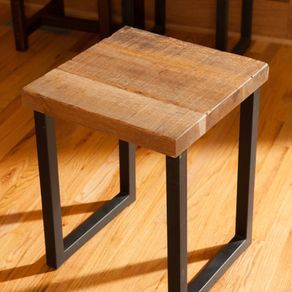 Reclaimed Oak Wood End Table, Entry Way Table, End Table ...
