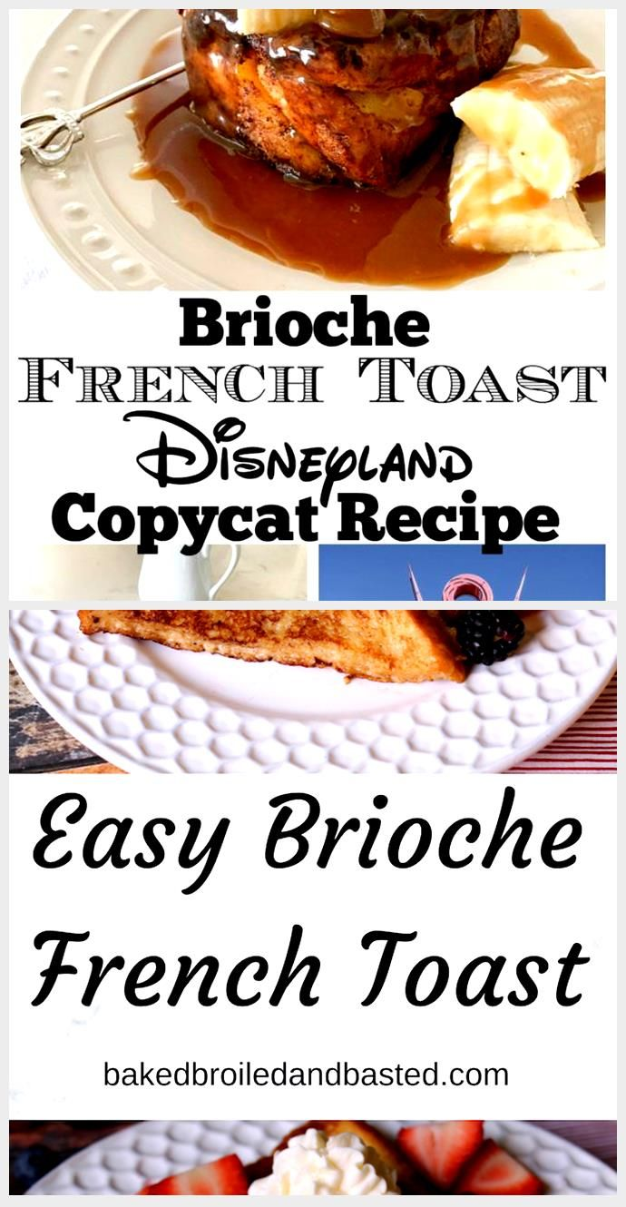 Brioche French Toast Recipe | Homemade Disneyland Food #disneylandfood